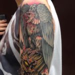 Blackwork Tattoo Vienna Wien Tattoostudio Oldschool traditional Tattoo vulture evil zombie dead