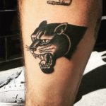 Black Panther Tattoo Blackwork Tattoo Vienna Wien Tattoostudio Oldschool traditional Tattoo